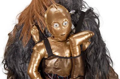 Morral C3P0 desarmado y un bolso para dormir Tauntaun, para fanáticos de Star Wars