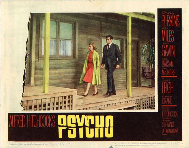 Uno de los pósters de Psycho!