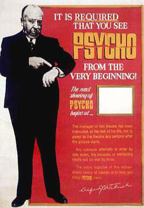 Psycho! Poster Alfred Hitchcock