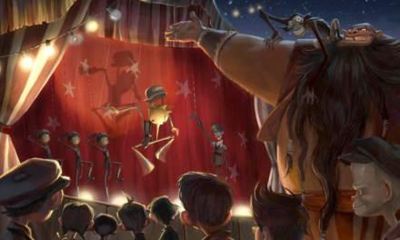 Un par de imágenes del Pinoccio macabro de Guillermo del Toro y Gris Grimly