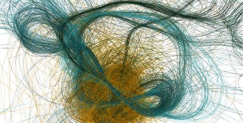 """Una de las infinitas formas """"imposibles"""" que pueden ser generadas con Processing"""