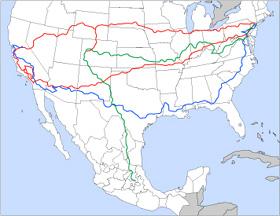 Mapa de los viajes de On the road de Kerouac