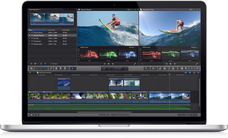 Apple libera una nueva versión de Final Cut Pro X