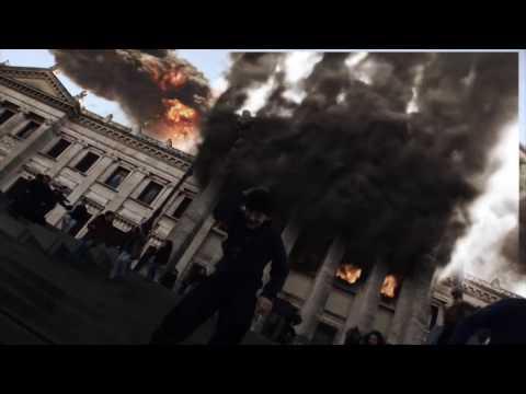 Ataque de Pánico, robots gigantes destruyen Montevideo