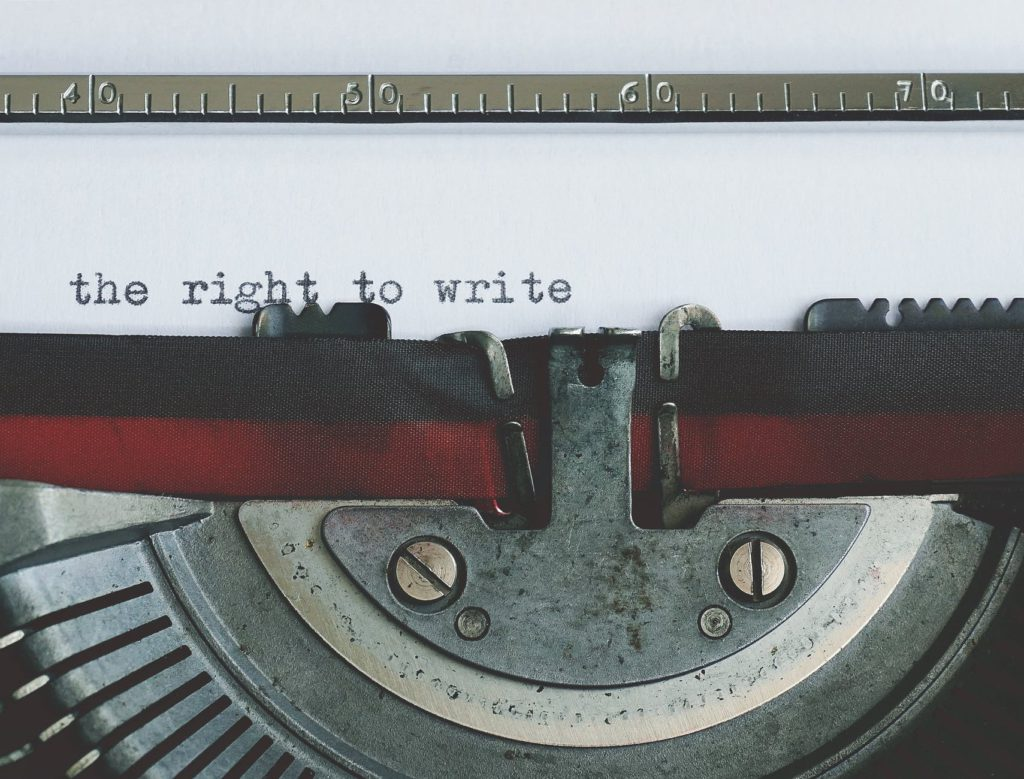 close up view of an old typewriter