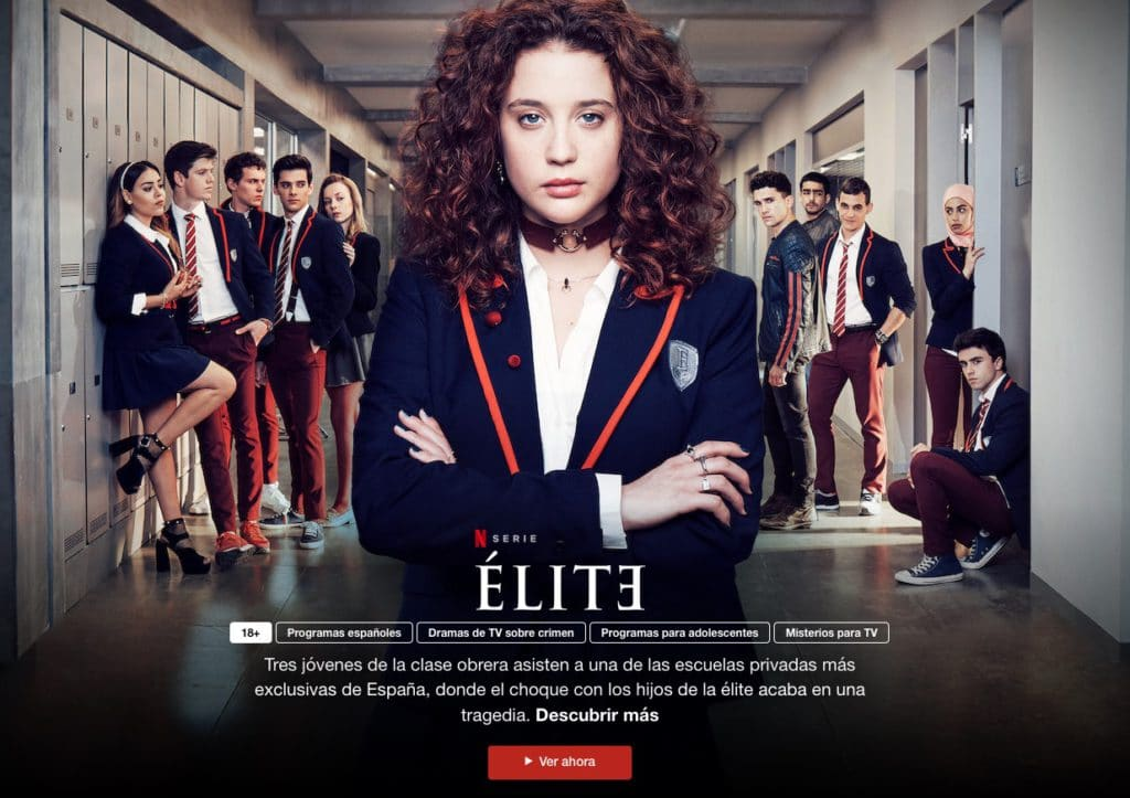 Élite es uno de los trabajos que ofrece Netflix gratis